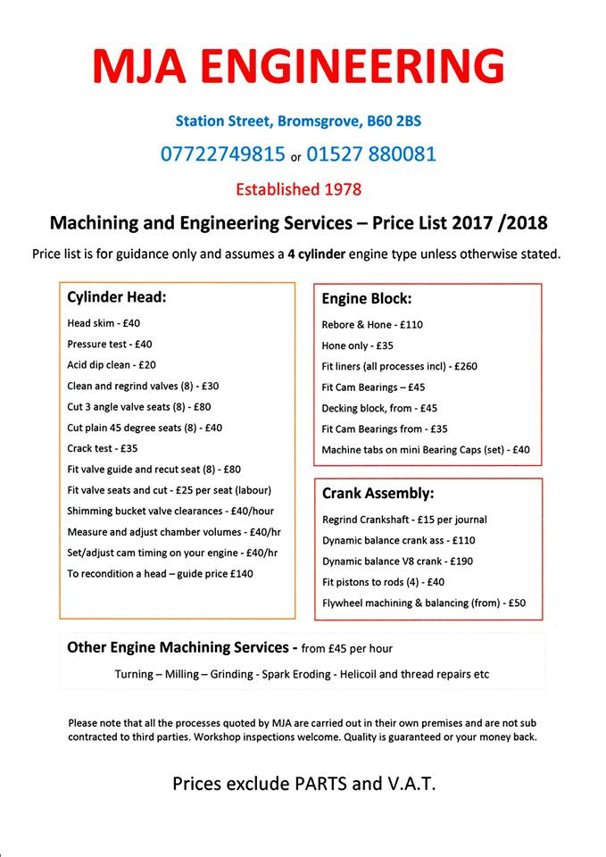 Price List Mja Automotive